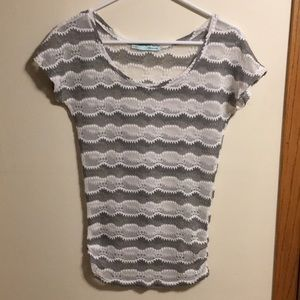 Maurices knit short sleeve striped top